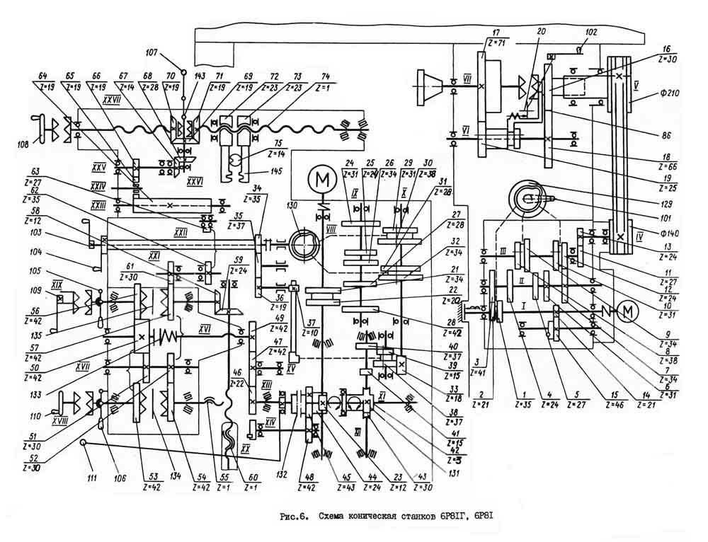 Кинематическая схема 6р11