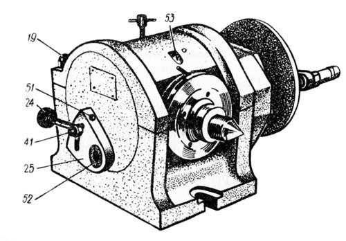 Конструкция универсальной делительной головки УДГ-160