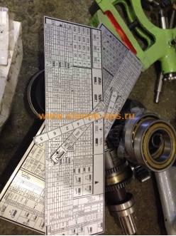 Табличка коробки скоростей 1К62Д (большая)